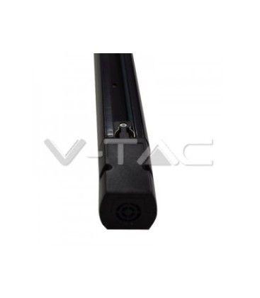 V-Tac 1 meter skinne til LED skinnespots - Sort, 3-faset