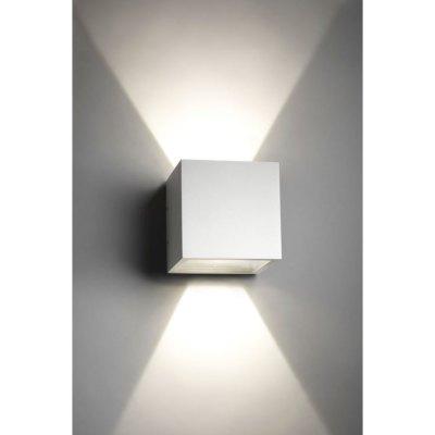 Image of   V-Tac 6W LED hvid væglampe - Firkantet, justerbar spredning, IP65 udendørs, 230V, inkl. lyskilde - Kulør : Neutral, Dæmpbar : Ikke dæmpbar