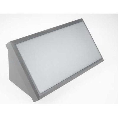 Image of   V-Tac 20W LED væglampe - Grå, IP65 udendørs, 230V, inkl. lyskilde - Kulør : Varm, Dæmpbar : Ikke dæmpbar