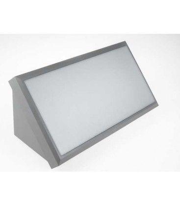 V-Tac 20W LED væglampe - Grå, IP65 udendørs, 230V, inkl. lyskilde