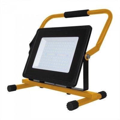 Image of   V-Tac 30W LED arbejdslampe - Til udendørs brug, inkl stander - Kulør : Neutral, Dæmpbar : Ikke dæmpbar, Farve på hus : Sort
