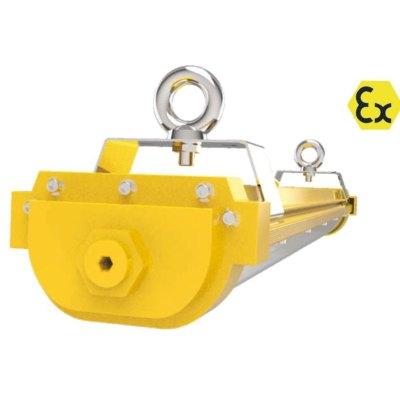 Image of   120 cm EX armatur 40W - ATEX godkendt, RA 90, IP66 stænktæt - Kulør : Kold, Dæmpbar : Ikke dæmpbar