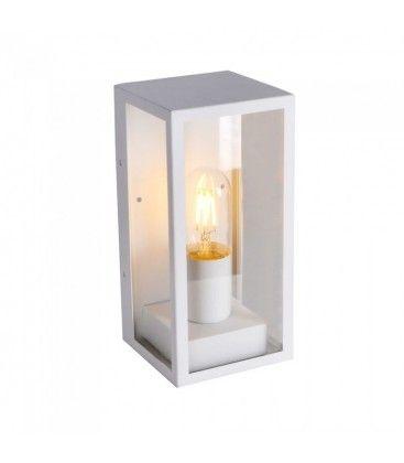 V-Tac hvid væglampe - IP44 udendørs, E27 fatning, uden lyskilde