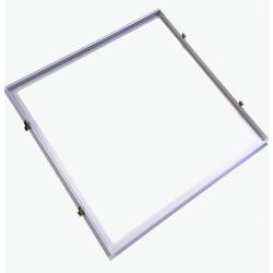 Store paneler Indbygningsramme til 60x60 LED panel - Perfekt til Troldtekt og gips, indsænkning plant med loftet