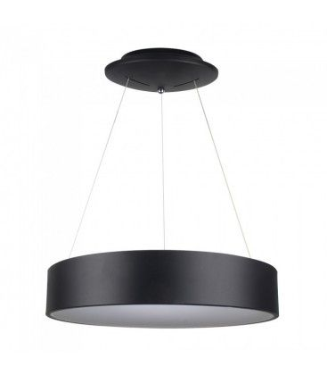V-Tac 30W LED lysekrone - Sort, blødt lys, dæmpbar, varm hvid, inkl. lyskilde