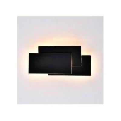 Image of   V-Tac 12W LED sort væglampe - IP20 indendørs, 230V, inkl. lyskilde - Kulør : Varm, Dæmpbar : Ikke dæmpbar