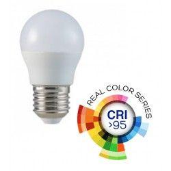 E27 Stor fatning V-Tac 5,5W LED pære - G45, E27, CRI 95