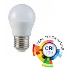 E27 Stor fatning V-Tac 5,5W LED pære - G45, E27, RA 95