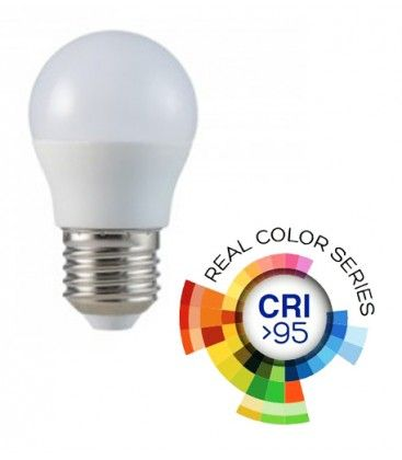 V-Tac 5,5W LED pære - G45, E27, RA 95