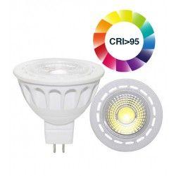 MR16 / GU5.3 fatning LEDlife LUX3 spotpære - 3W, RA 95, 12V, dæmpbar, MR16
