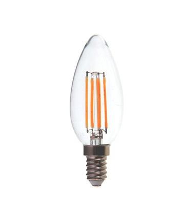 V-Tac 4W LED kertepære - Dæmpbar, Kultråd, E14