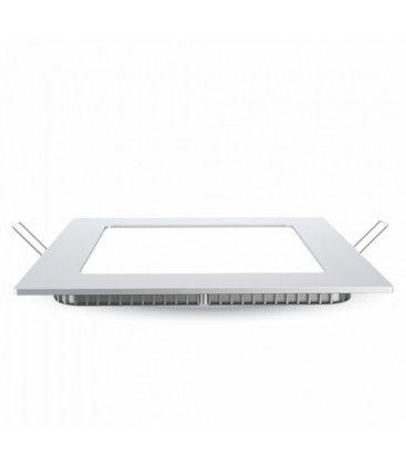 V-Tac 18W LED indbygningspanel - Hul: 21x21 cm, Mål: 22,5x22,5 cm, 230V, Samsung LED chip