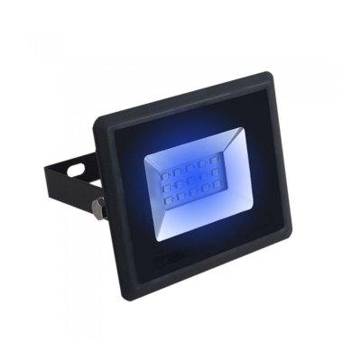 Image of   V-Tac 10W LED projektør - Arbejdslampe, blå, udendørs - Dæmpbar : Ikke dæmpbar, Kulør : Blå, Farve på hus : Sort