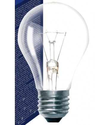 Klar E27 25W glødetrådspære - Traditionel pære, 200lm, dæmpbar, A50