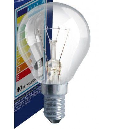 Klar E14 25W glødetrådspære - Traditionel pære, 200lm, dæmpbar, PS45