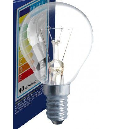 Klar E14 40W glødetrådspære - Traditionel pære, 400lm, dæmpbar, PS45