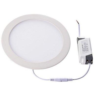 Image of   LEDlife 12W LED indbygningspanel - Hul: Ø18 cm, Mål: Ø21 cm, 230V - Kulør : Varm, Dæmpbar : Dæmpbar