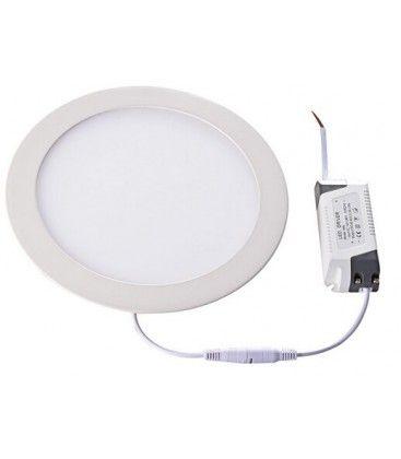 LEDlife 12W LED indbygningspanel - Hul: Ø18 cm, Mål: Ø21 cm, 230V