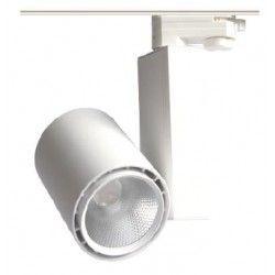 Skinnespots LED 30W Skinnespot, Citizen chip - 3000k, 60 grader, 1 fase