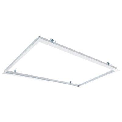 Image of   Indbygningsramme til 120x60 LED panel - Perfekt til Troldtekt og gips, indsænkning plant med loftet