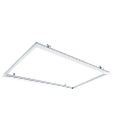 Indbygningsramme til 120x60 LED panel - Perfekt til Troldtekt og gips