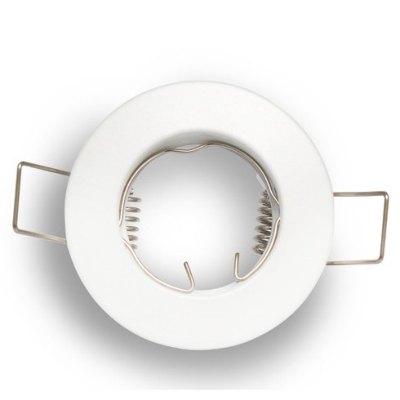Billede af Downlight kit uden lyskilde - Hul: Ø5 cm, Mål: Ø6 cm, mat hvid, vælg MR11 eller mini GU10 - Fatning : GU10