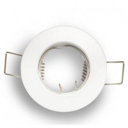 Indendørs indbygningsspots Downlight kit uden lyskilde - Hul: Ø4 cm, Mål: Ø6 cm, mat hvid, vælg fatning