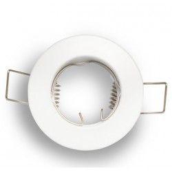 Indbygningsspot Downlight kit uden lyskilde - Hul: Ø4 cm, Mål: Ø6 cm, mat hvid, vælg MR11 eller GU10 fatning