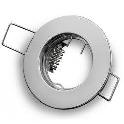Indendørs indbygningsspots Downlight kit uden lyskilde - Hul: Ø4 cm, Mål: Ø6 cm, krom, inkl. MR11 fatning