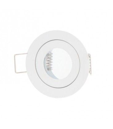 Downlight kit uden lyskilde - Hul: Ø4 cm, Mål: Ø5,5 cm, hvid, IP44, vælg fatning