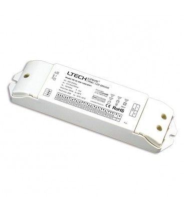 Ltech 36W dæmpbar driver til LED panel - Triac fasedæmp + push-dim, passer til vores 29W og 36W store LED paneler