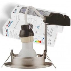 Indbygningsspot V-Tac 3-pak Indbygningsspot med 5W lyskilde - Stål front, komplet med GU10 holder og LED spot
