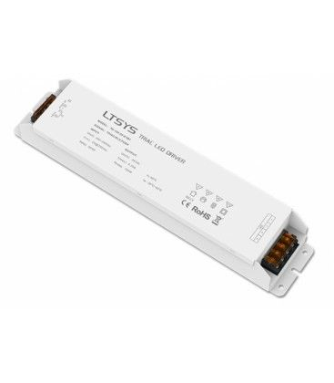 LTech 150W dæmpbar strømforsyning - 24V DC, 6.25A, Fase+1-10V+Push-dæmpbar, flicker free, IP20