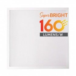 Store paneler LED panel 60x60 - 25W, 4000lm, 160lm/w, indbygget i hvid ramme