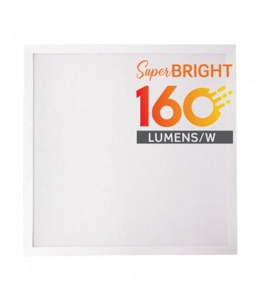 LED panel 60x60 - 25W, 4000lm, 160lm/w, indbygget i hvid ramme