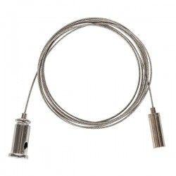 Med LED - Lysstofrør armatur Wire ophæng til armatur - 1,5 meter, justerbar højde, sæt med 2 stk.