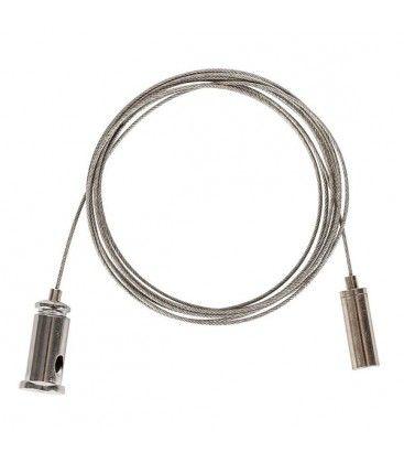 Wire ophæng til armatur - 1,5 meter, justerbar højde, sæt med 2 stk