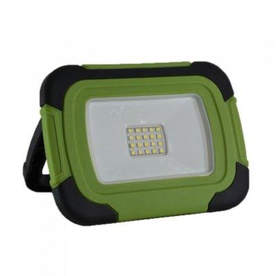Image of   V-Tac LED projektør 10W - 12V/230V, transportabel, genopladelig, arbejdslampe, udendørs