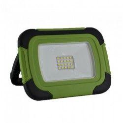LED Projektør V-Tac LED projektør 10W - 12V/230V, transportabel, genopladelig, arbejdslampe, udendørs