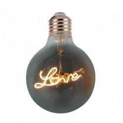 E27 Stor fatning V-Tac 5W LED Love globepære - Kultråd, Ø12,5cm, ekstra varm hvid, E27