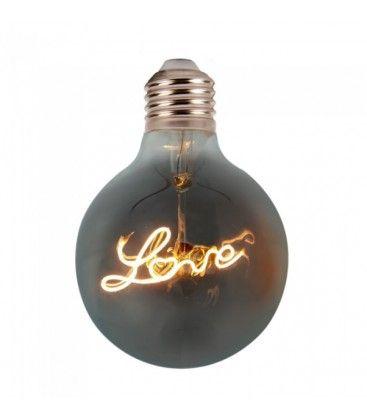 V-Tac 5W LED Love globepære - Kultråd, Ø12,5cm, ekstra varm hvid, E27