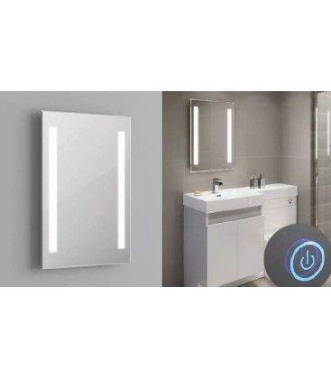 Spejl med indbygget LED lys - 37W, Touch, Justerbar varm-koldt lys