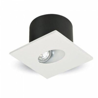 Image of   3W Trin belysning - Til trappetrin, Ydre: 8x8 cm, Hul: 6,2x6,2 cm, Fokuseret lys - Kulør : Varm, Dæmpbar : Ikke dæmpbar