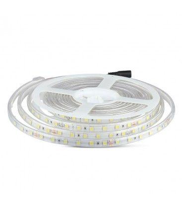 V-Tac 9W stænktæt LED strip - 5m, IP65, 24V, 60 LED, 9W pr. meter!