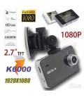 """Bil kamera, DVR, FullHD 1080P, 2.7"""" skærm, G-Sensor, motion detection"""