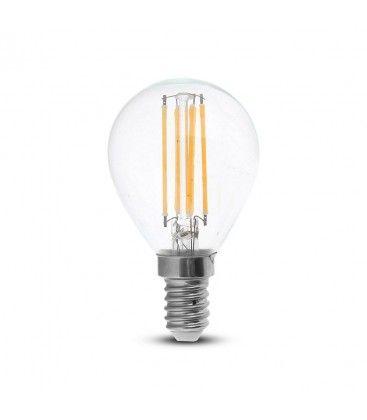 V-Tac 4W LED kronepære - Kultråd, P45, E14