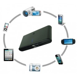 Mobile.batteri.sort: Mobil batteri lader til IPhone, Android, Nokia m.f., Sort