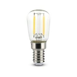 E14 Lille fatning V-Tac 2W LED køleskabspære - Kultråd, ST26, E14