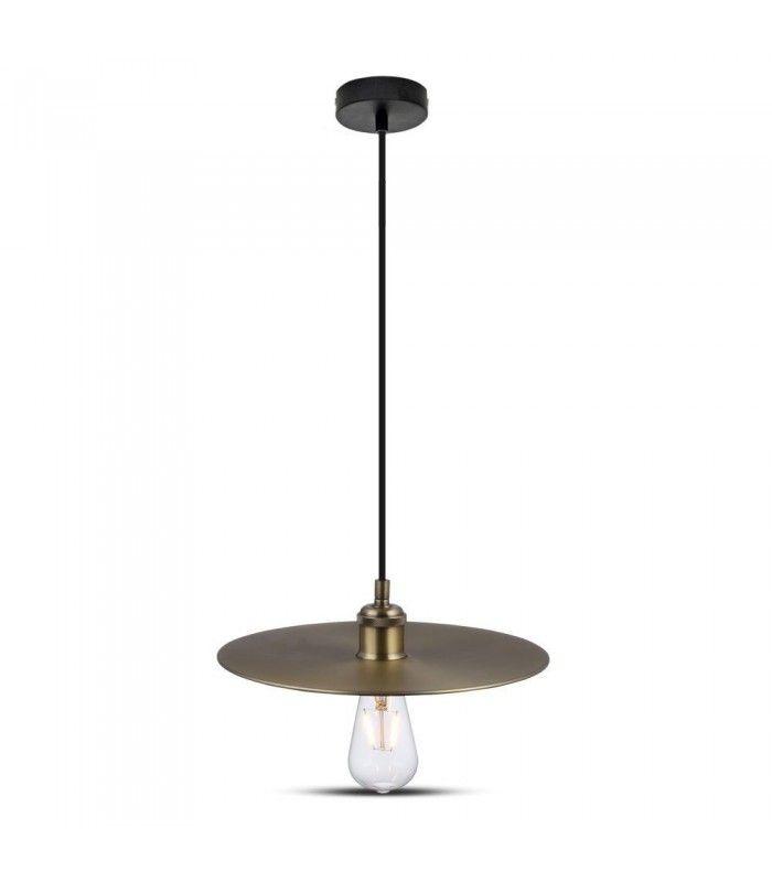 V Tac Metal pendel lampe Mat gylden, E27