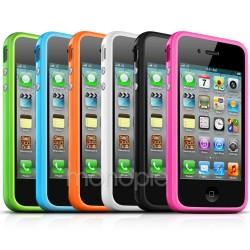 iphone5.bumper.TPU: Iphone 5/5S Silikone bumper / cover, Metal knapper, flere farver